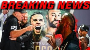 Deontay Wilder Crashes Tyson Fury Weigh-in (FULL Fury Weigh in)