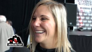 "Marie Eve Dicaire – ""I Want to Challenge Cecilia Braekhus"" | STEVENSON VS. GVOZDYK | BOXCASTER"