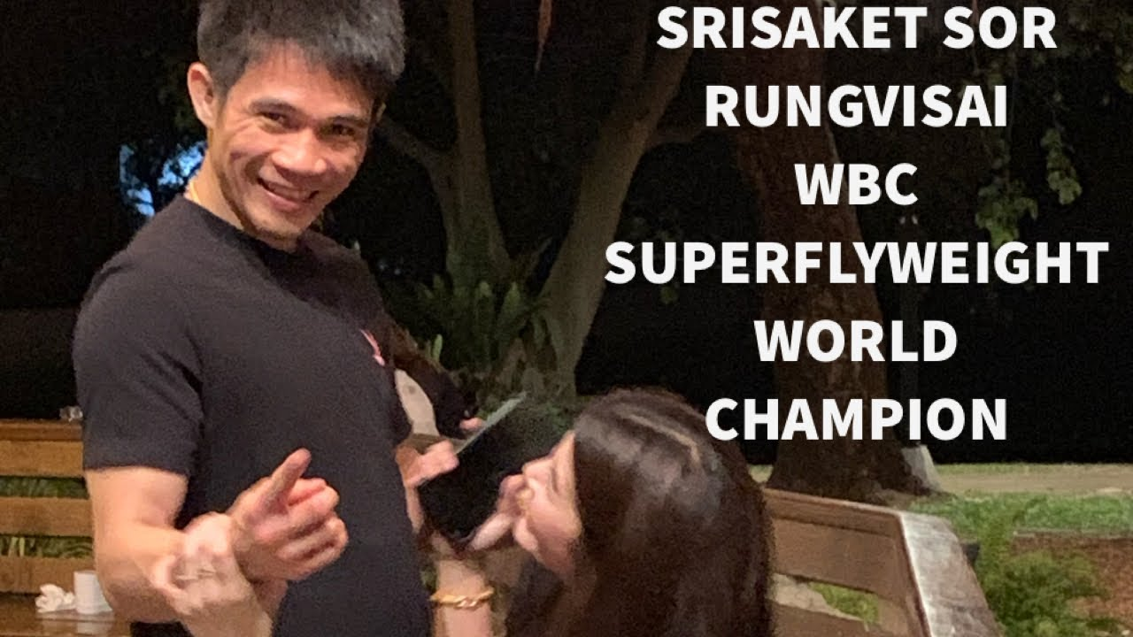 Srisaket Sor Rungvisai the WBC super flyweight world champion and his Wife