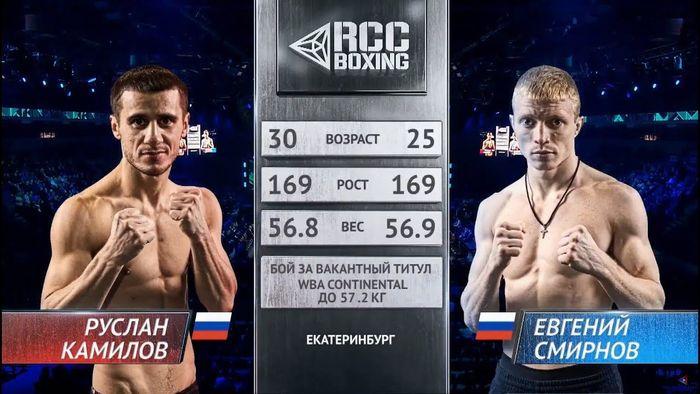 エフゲニー・スミルノフ vs ルスラン・カミロフ