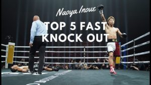 Top 5 Match Fastest Boxing Knockouts of Naoya Inoue 2019