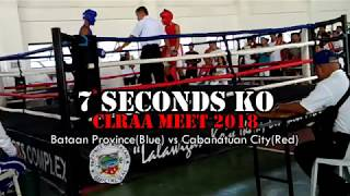 7 Seconds Knockout in Amateur Boxing(Bataan vs Cabanatuan City)2018 CLRAA Meet