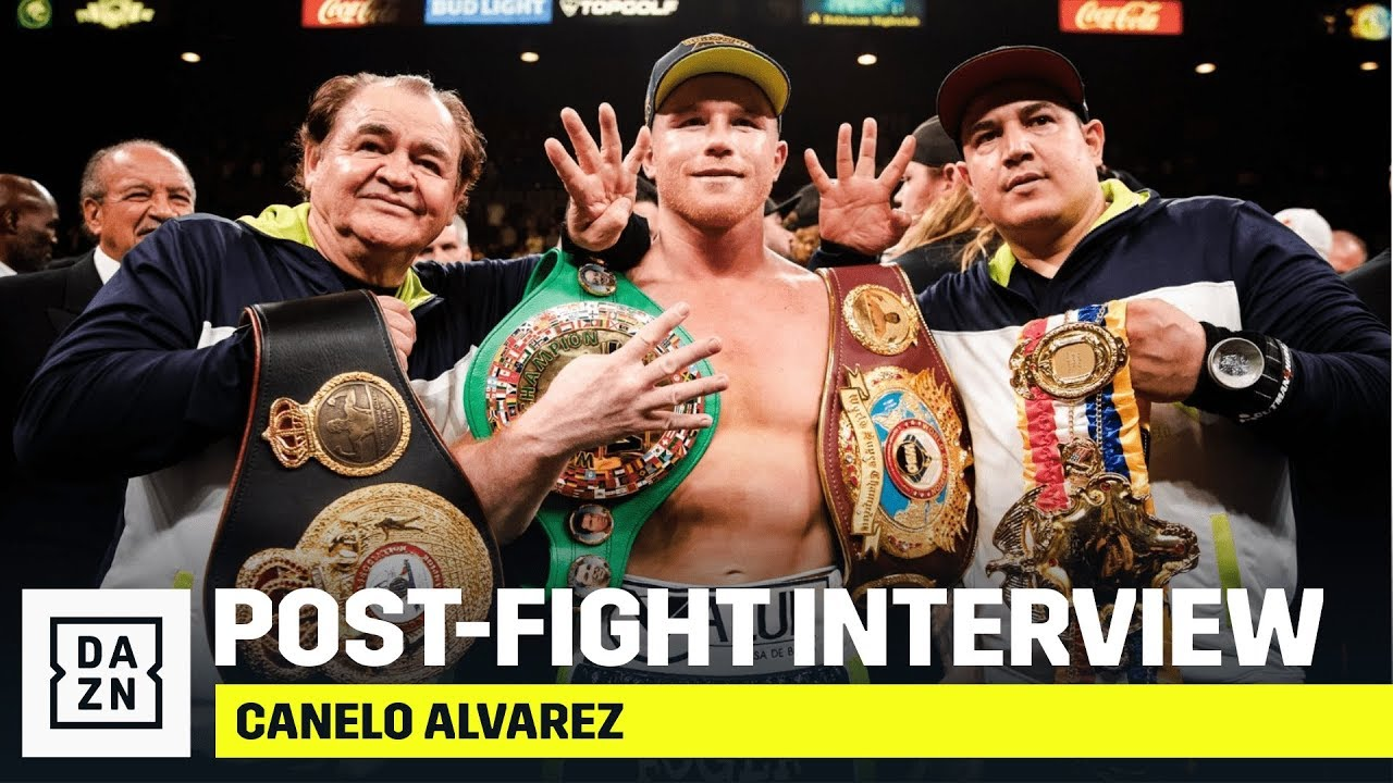 Canelo Alvarez Reacts To Becoming Four-Weight World Champion