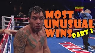 Most Unusual Victories in Combat Sports/Strangest Wins-3