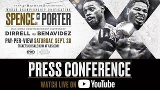 Spence vs Porter – Final Press Conference FULL BROADCAST