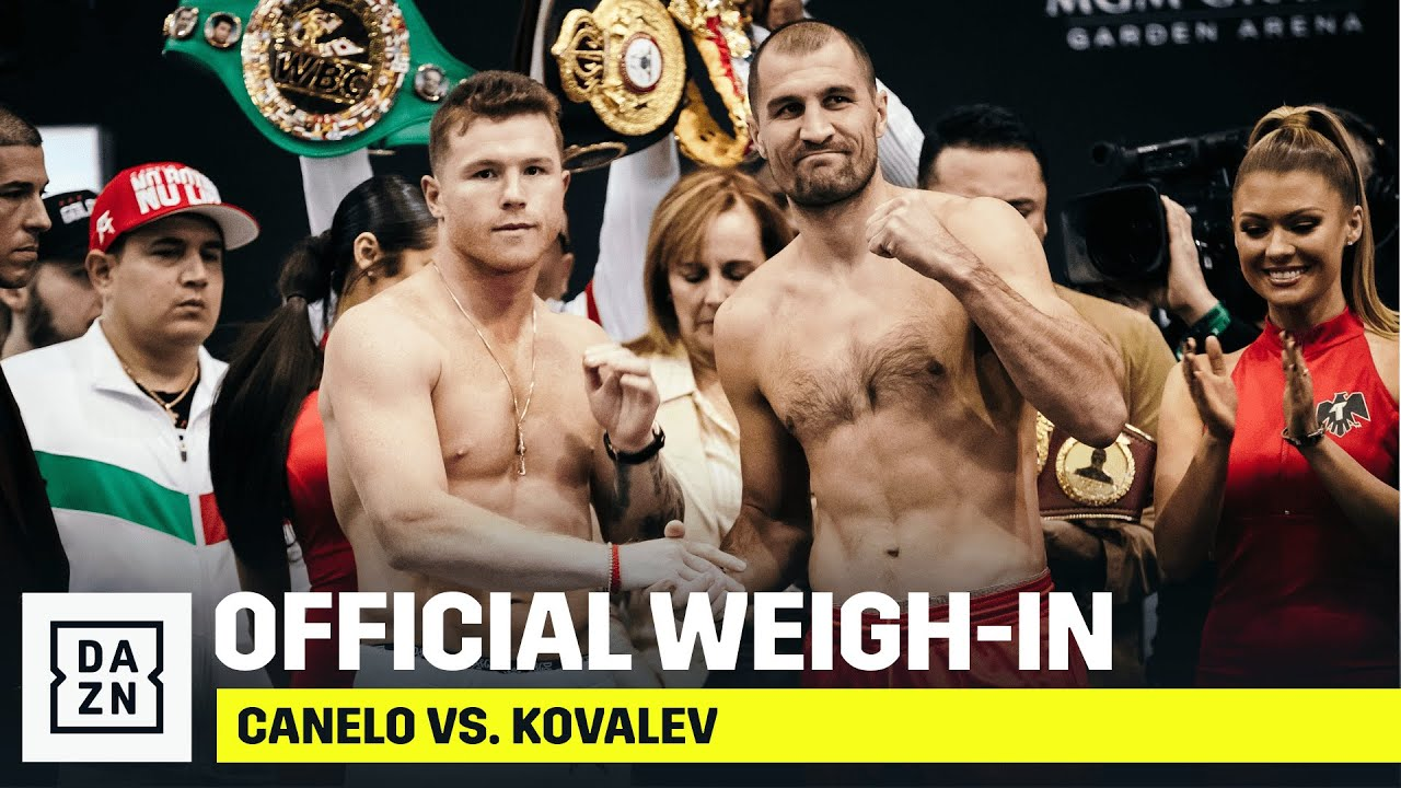 WEIGH-IN | Canelo vs. Sergey Kovalev (Official Stream)