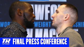 Crawford vs Machine: Final Press Conference