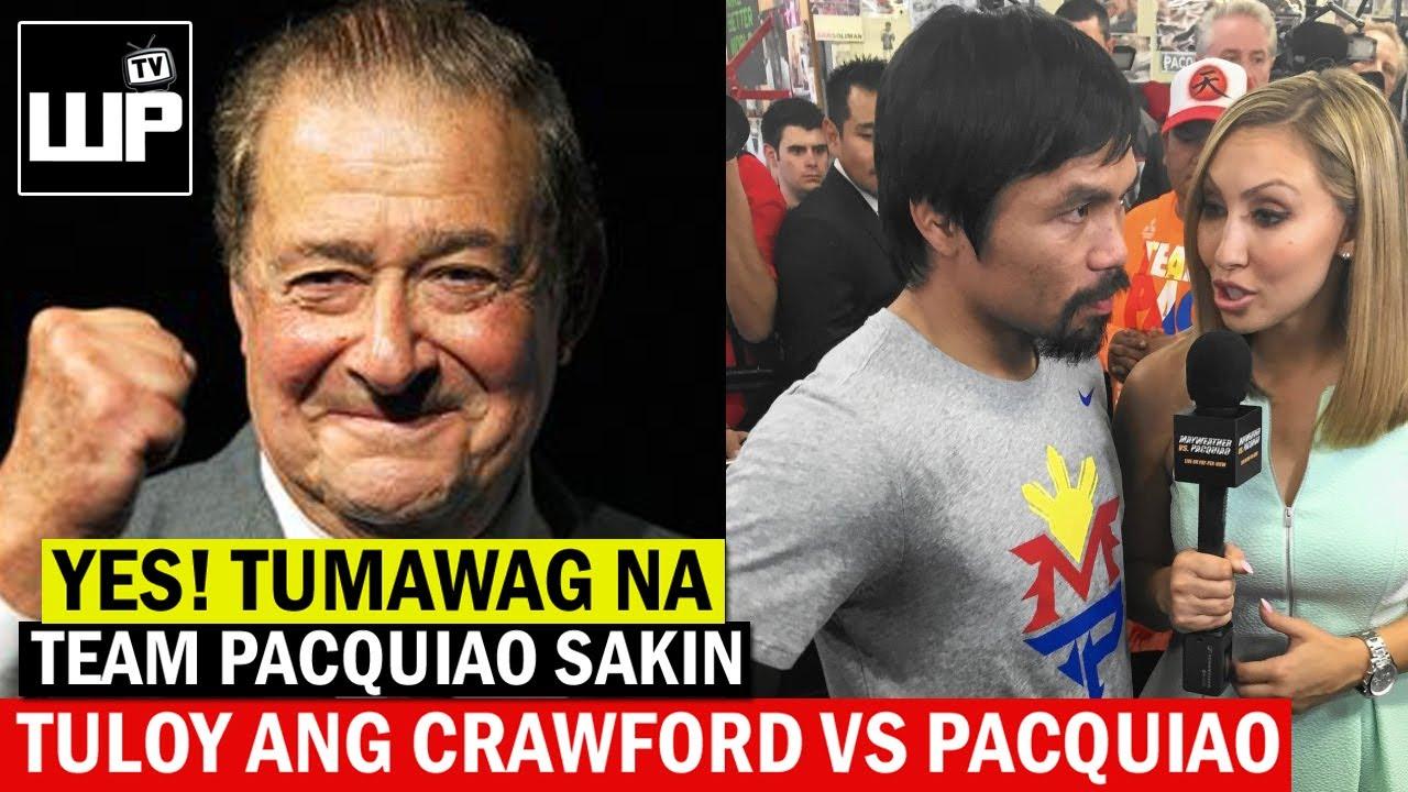 Breaking News! MATUTULOY na ang CRAWFORD vs PACQUIAO | Tinawagan na ng Team Pacquiao si Bob Arum
