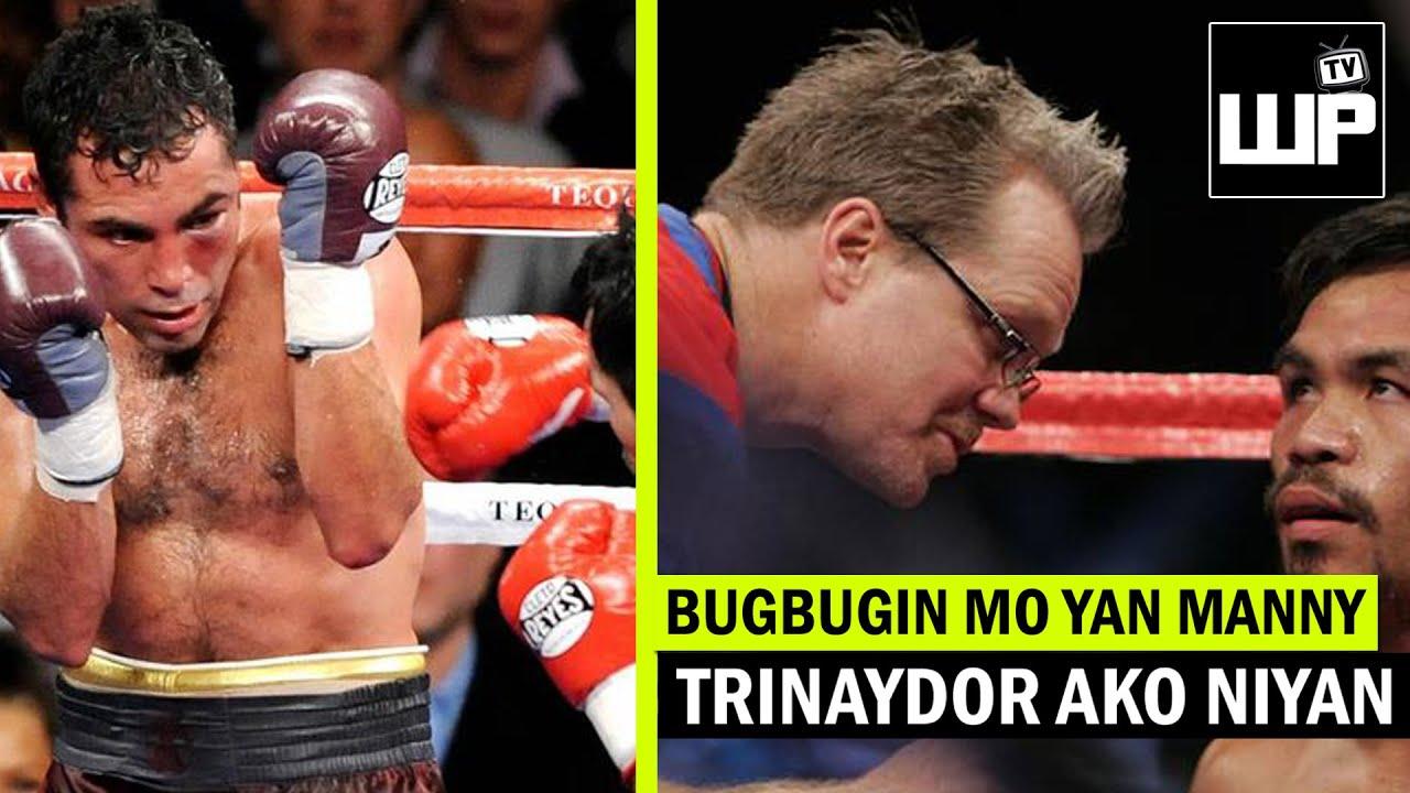 De La Hoya TRINAYDOR daw si  FREDDIE ROACH? kaya PINAGULPI ng HUSTO kay PACQUIAO at PINAG RETIRO